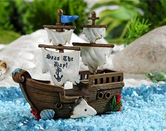 Fairy Garden Pirate Ship