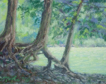 March of the Ents (Original Pastel Painting)