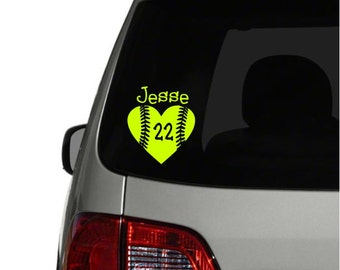 Soft Life Softball Vinyl Car Decal Sticker Free Shipping - Custom design car decals free