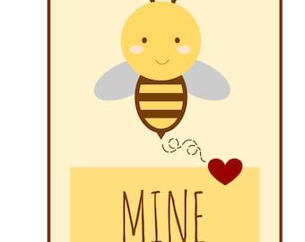 Bee Mine Valentine Tags