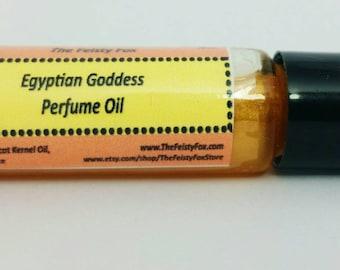 Roll On Egyptian Goddess Perfume Oil ~ Seductive Fragrance ~ Vegan Perfume ~ Dragon's Blood ~ Rose ~ Musk and More ~ Glitter Option