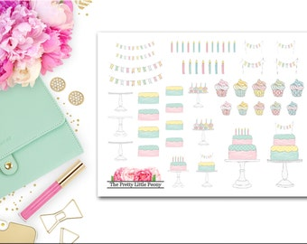 Build Your Own Cake Planner Stickers