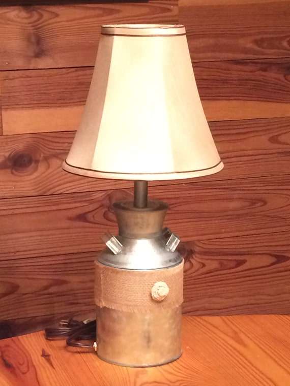 Items Similar To Milk Can Table Lamp On Etsy