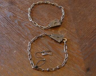 Vintage, GEVOV Bicycle Lock, Set of Two