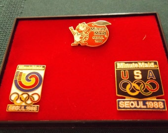 1988 Olympic Games Pin Set