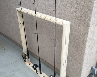 Fishing pole holder,rack,shelf