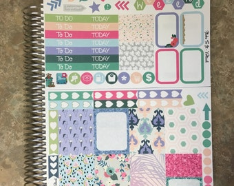Cheeky Glitter Melon Mini Weekly Set ECLP Horz & Vert Planner Stickers - Full Set Floral ECLP Mambi Inkwell Press Filofax Kikki K Happy