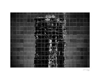 Under Construction - Fine Art Photography, Black and White Print, Architecture, Repetition, Windows, 30x20, Custom Sizes