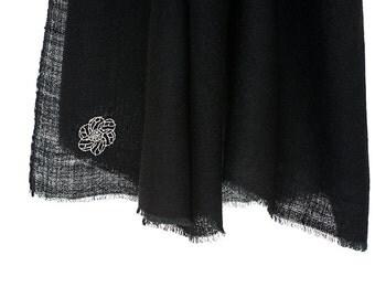 100% cashmere scarf - black (SHKD2)