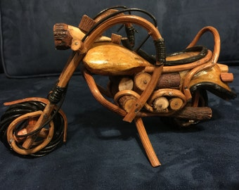 Hand Made Wood Motorcycle