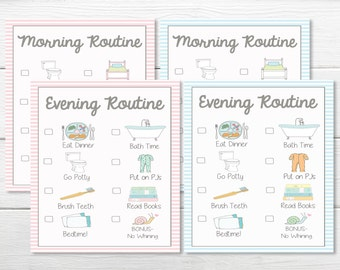 PRINTABLES- DAILY- Young Child/Toddler Girls & Boys Chore Charts