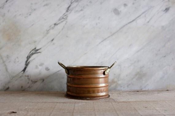 Small Copper Pot, Rustic Copper Pot, Antique Pot, Rustic Home Decor