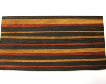 Handcrafted solid wood cutting board 37 x 20 x 1.5 cm