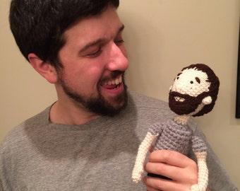 Custom crocheted amigurumi portrait of you or your friend!