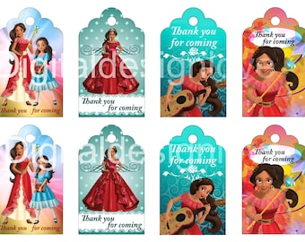 Custom Request Elena of Avalor Inspired Tags Elena Avalor Tags, Elena of Avalor Party Supplies Elena Avalor Thanks tag Elena Avalor Birthday