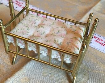 Darling Brass Cradle for 1:12 Doll House