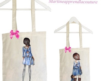 Tote bag duo mother daughter model ILDA