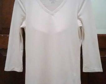 Women's ivoire Balmain T shirt Built in bra. Sz Medium Pierre Balmain Paris