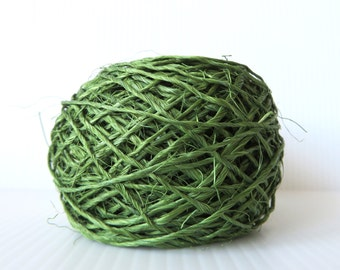 PIneapple Fique in Green Blue / Pineapple Fiber / Sustainable / Handmade / DIY Crafts / Basketry /  Knitting / Crochet Weaving Yarn Habu FQ1