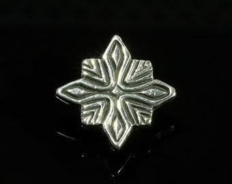 NK020 Pewter Star Onlay, metal Plate, Decorative Metal Plate for leather