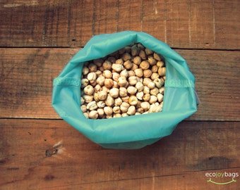 Reusable bulk food bag, reusable grocery bag, ripstop nylon, size medium BLUE