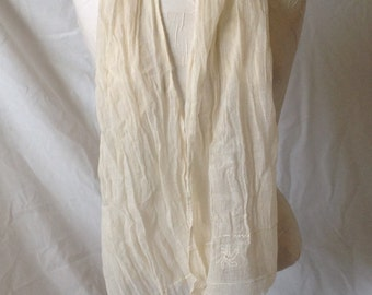 100% all natural gauze Cotton scarf with hand embroidery