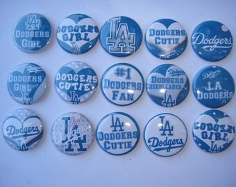 Los Angeles Dodgers Buttons Set of 15