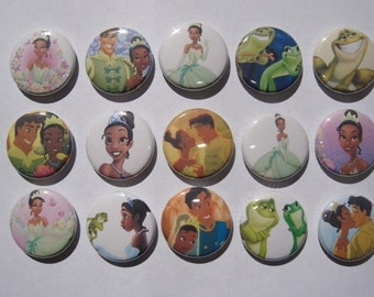 The Princess and The Frog Buttons Set of 15