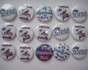 Patriots Buttons Set of 15