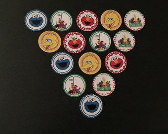 Sesame Street Buttons Set of 15