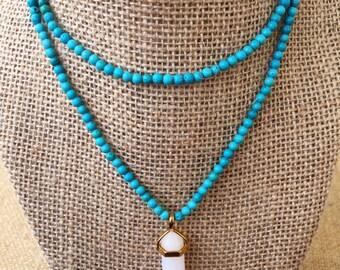 Turquoise White Pendant