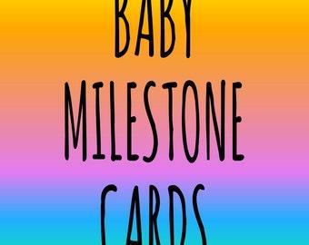 Baby Milestone Cards - Pastel Rainbow Colours