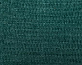 Linen natural - color: teal teal - 100% natural fiber - 0.5 m