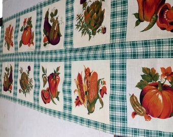 Vintage Panel #154 Fall Fruit and Vegetables with FREE SHIPPING