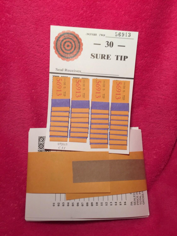 1 dozen 30 number sure tip boards fund raising raffle bingo