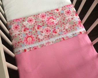 Crib sheet pink