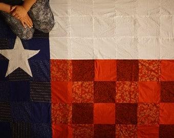 Texas quilt, Texas flag quilt, Texas state quilt, Texas state flag, TX quilt, Texas blanket, Texas flag blanket, Texas state, Texas bedding