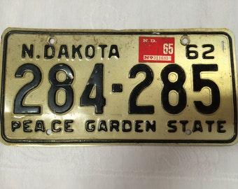 1962 North Dakota License Plate
