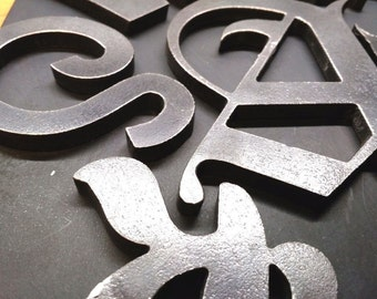 Customized Heavy Steel Letters, Numbers, Symbols - Caveman Metal