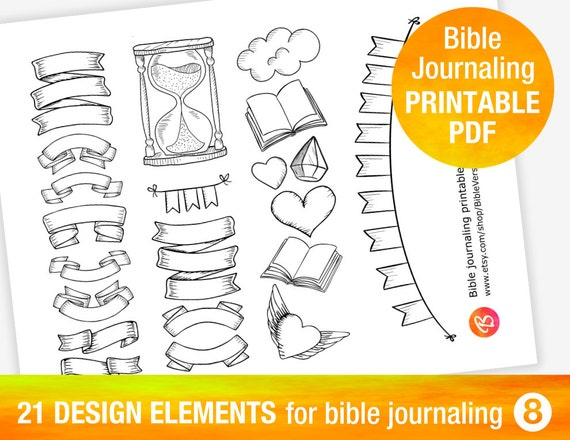 21 PRINTABLE TEMPLATES for bible journaling by ...