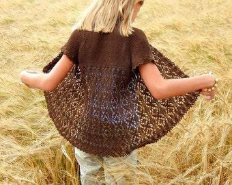 """Knitting kit (pattern+yarn) for cardigan """"Vakarute"""""""