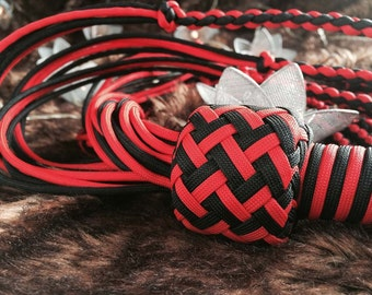 Flogger - Demon Knot Para Cord- Black, Red