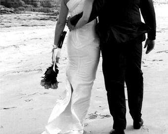 BEACH WEDDING Greeting Card, Wedding & Engagement Card, Love Card, Anniversary Card, Blank Square Card