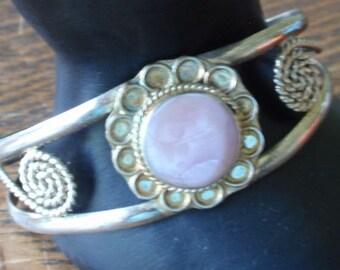 Vintage Alpaca Mexico Cuff Bracelet