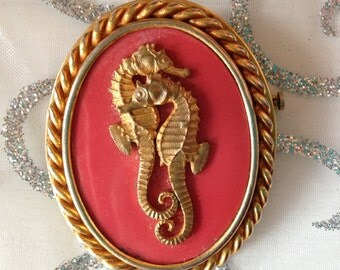 Vintage seahorse pin ~ Made in France