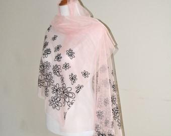 Bridal wraps, bridal shawl, bridal cover up, floral bridal wrap, wedding wraps, wedding shawls, pink wedding wrap,  bridesmaid wraps