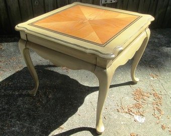 End Table, Thomasville, Cottage Chic Antiqued