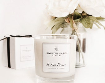 Luxury Natural Scented Candles, hand poured in Cornwall. St Ives Breeze, fresh marine scent