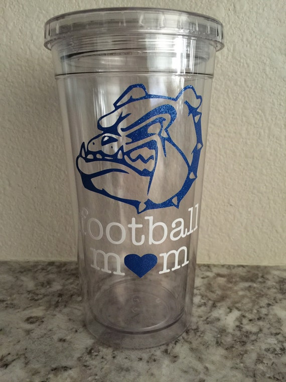 custom personalized tumbler football mom tumbler sports cup