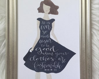 Anne of Green Gables fashion quote